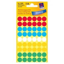 Krāsaini aplīši ∅12 mm, Avery Zweckform