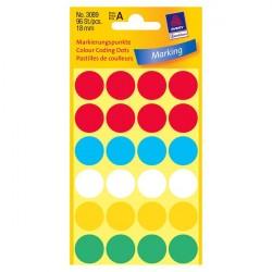 Krāsaini aplīši ∅18 mm, Avery Zweckform