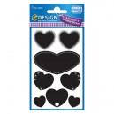 Veltījuma uzlīmes 55099 (melnas sirdis), Avery Zweckform