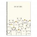 Koledžbloks Cute Cats Series A4, ABC Jums